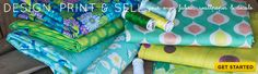 Design and print your own fabrics, wallpaper, decals and wrapping paper. Upload to this site and the make it and ship it to you!