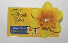Buy your Marie Curie Daffodil Pin Brooch here and help raise money for the Marie Curie Foundation for cancer research . Marie Curie, Crystal Gifts, Body Jewellery, How To Raise Money, Daffodils, Monuments, Brooch Pin, Derby, Foundation
