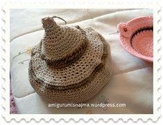 cesto cuerda algodón crochet Lana, Crochet Hats, Jute, Hampers, Amigurumi, Tejidos, Twine, Knitting Hats