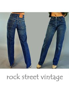 Vintage 70s Levis 501s HIGH waisted JEANS / by rockstreetvintage