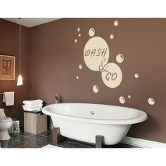 Style and Apply Wash & Go Wall Decal (16in x 15in )