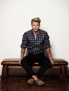 Get the look! button up shirt + jeans + winning combo. Shop new in mens here: http://www.citybeach.com.au/shop/en/citybeach/new-mens-new-in