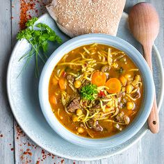 Soup Recipes, Cooking Recipes, Modern Food, Soups And Stews, Tofu, Ramen, Chili, Food And Drink, Vegetarian