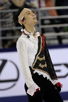 Yuzuru HANYU 羽生結弦 An inspiration for skating in the Cup for China 2014 despite sustaining several injuries in a collision during his warm-up, just 15 minutes beforehand. He fell 5 times, but just kept getting back up!