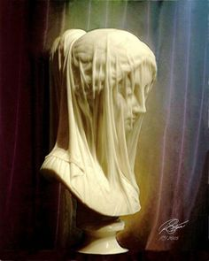 The Veiled Virgin by Giovanni Strazza