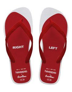 Havaianas flip flops reading