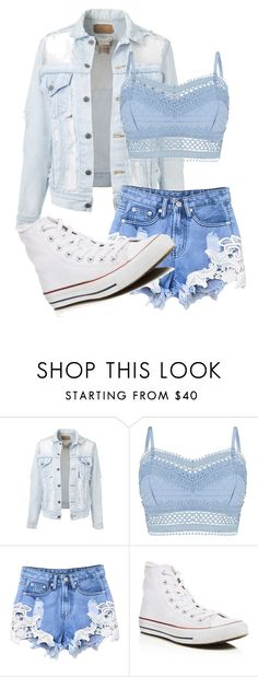 """blue"" by cheyenne-dodds on Polyvore featuring Lipsy and Converse"