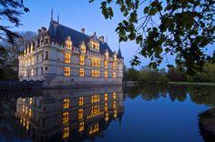 Chateau de Azay-le-Rideau, valle del Loira, Francia