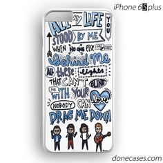 one direction drag me down lyric collage iPhone 6 / 6S Plus Case