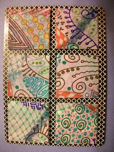 Zentangle Inchies #1 by LauraAust, via Flickr