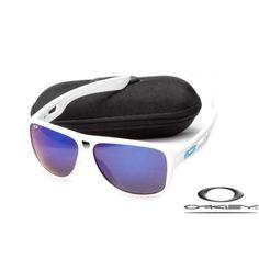 4fd7febede7e Fake Oakleys dispatch II white   blue iridium for sale