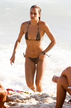Alice Dellal showed off her hot figure on the beach in Rio in Feb. 2013.