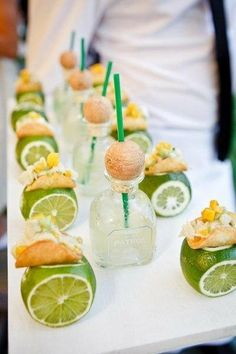 Love these mini tequila and tacos-- Would be great for any (adult) celebration. So cute! toooooo cute!