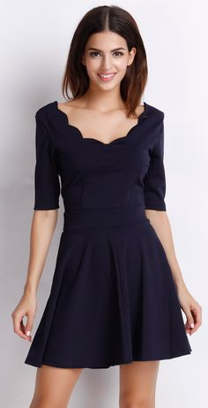 Basic is always classic, try this skater dress from OASAP