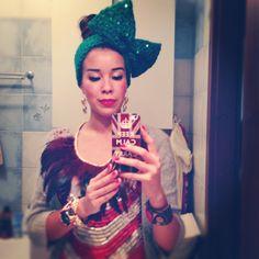 Macademian Girl in my Bow headband. So cool. ;-)
