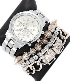 Silver Arm Candy Set | Sotrendee Inc.