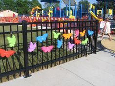 Personalized butterflies - awesome fundraiser for a community-built playground