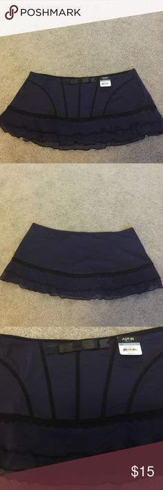Sexy Mini Skirt. Sexy mini navy and black skirt. It is new with tags. APT.9 Skirts Mini