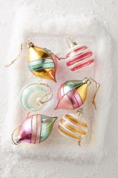 Colorful glass ornaments