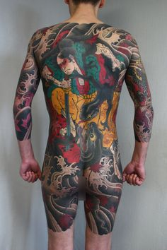 Tattoo Slava Starkov - tattoo's photo In the style Oriental, Male, Asian, Differe Gangster Tattoos, Japanese Tattoos For Men, Japanese Tattoo Art, Asian Tattoos, Weird Tattoos, Mens Body Tattoos, Body Art Tattoos, Traditional Tattoo Back Piece, Body Painting