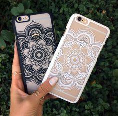 White mandala phone case ❤️