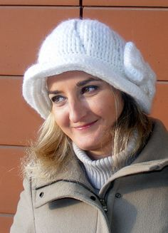 FREE SHIPPING  crochet hatwhite crochet hatwomen by seno on Etsy, $29.00
