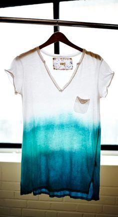 DIY Dip Dye for Clothing DIY clothes DIY Refashion