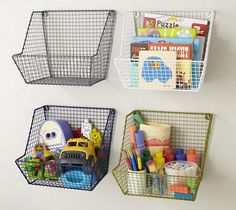 Wire Wall Bins, love for paints and other artistic supplies that children need with supervision.