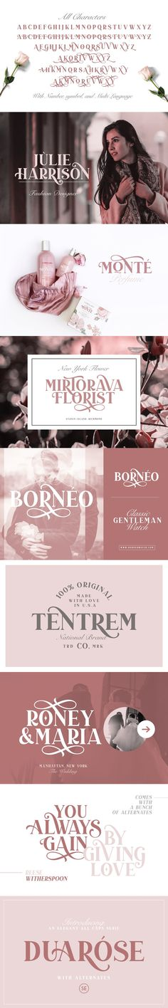 Introducing, brand new serif, Duarose - an elegant serif with a bunch of alternates! --- Duarose is a classic and elegant serif with a bunch of alternates up to Font Creator, Elegant Fonts, Pua, Serif, Presentation, Graphic Design, Style, Classy Fonts, Swag
