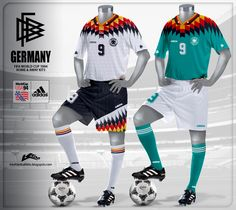 Germany Home and Away Kits World Cup 1994