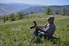 Steve Rengers Works His Magic by David Clendenen on Capture Kern County // Steve Rengers working his magic with the 105 micro.... photographing a thistle sage.