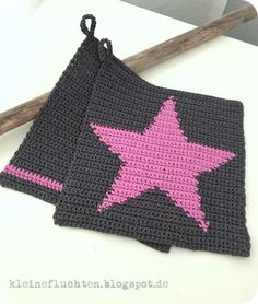 p/topflappen-mit-sternen-hakeln-idee-im-link - The world's most private search engine Crochet Hot Pads, Knit Crochet, Blanket Crochet, Crochet Potholders, Crochet Kitchen, Tapestry Crochet, Pot Holders, Crochet Projects, Sewing Crafts