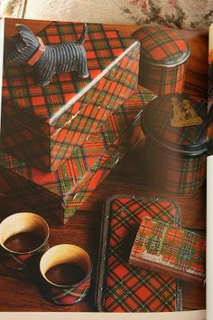Vintage Tartan tins and boxes.  I'd love to have this collection.