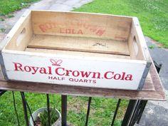 Antique RC Royal Crown Cola Pop Soda Wood Advertising Crate, Atlanta, Ga.