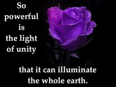 So powerful is the light of unity that it can illuminate the whole earth. Bahá'u'lláh http://reference.bahai.org/en/t/b/GWB/gwb-132.html