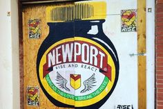 Newport's mysterious street artist is back and his work has a Marmite theme - Wales Online Marmite, Street Artists, Newport, Mysterious, Vintage Posters, Wales, Mystery, Culture, Welsh