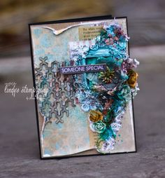 Mixed Media Card by Elena Morgun   Lindy's Stamp Gang