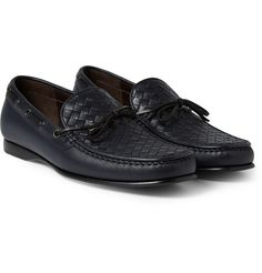 Bottega Veneta - Intrecciato Leather Boat Shoes   MR PORTER Chaussures  Bateau En Cuir, M 4c358060d52e