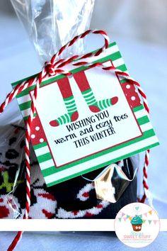 Christmas Sock Reward Tag Christmas Socks Tag Socks Tag Christmas Tag Secret Santa Stocking Stuffer DIY Printable Prompt Obtain Christmas Eve Box, Teacher Christmas Gifts, Holiday Gifts, Christmas Sock, Small Christmas Gifts, Christmas Presents, Handmade Christmas, Teacher Gifts, Christmas Neighbor