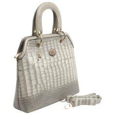 ESME Chic Silver Gray Faux Crocodile Top Double « Clothing Impulse