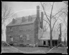 """The back of Montpelier, Salem Church vic., Charles City County, Virginia. 1935. Frances Benjamin Johnston, 1864-1952, photographer. Library of Congress.  According to a Charles City County Marker about the Barnett community: """"This area was formerly the site of Montpelier , the magnificent home of the Ladds, a prominent Quaker family."""" The house no longer stands."""
