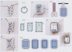 схема оплетения риволи квадратной и прямоугольной формы, мозаика, мастер-класс, мк, МК