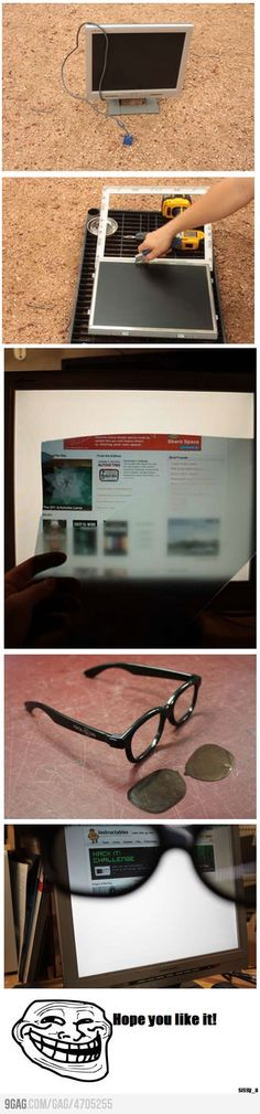 How to make your monitor only visible to you