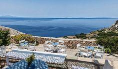 House By The Sea, Greece Islands, Greece Travel, Outdoor Furniture, Outdoor Decor, Sun Lounger, Villa, Patio, Image