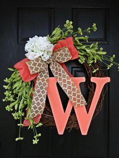 Such a pretty monogrammed wreath