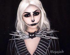 Achado não é roubado   10 makes de Halloween para se inspirar #jackskellington  #maquiagem #halloween