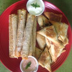 Spring rolls & veggies Somosas