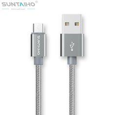Suntaiho 1 m/2 m/3 m 나일론 금속 micro usb cable 빠른 충전시 5 볼트/2.1a/핀 usb 케이블 iphone 6 6 s plus 5 초 5 ipad mini/samsung