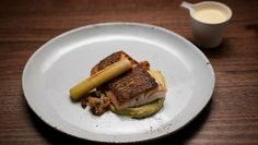Spangled Emperor with Braised Leek, Puree and Lemon Butter Sauceundefined