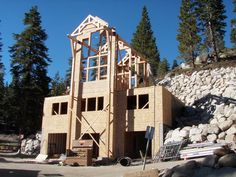 The Challenges and Opportunities of Building a log home on a Slope   http://www.precisioncraft.com/loghomesblog/index.php/steep-slope-opportunities/
